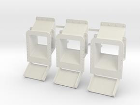 Cast Ore Chute ver8 WSF 3ea in White Natural Versatile Plastic