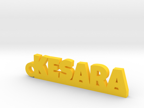 KESARA_keychain_Lucky in Polished Brass