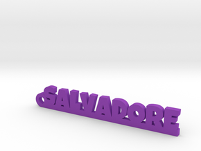 SALVADORE_keychain_Lucky in Rhodium Plated Brass