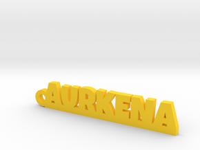 AURKENA_keychain_Lucky in Rhodium Plated Brass