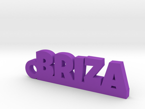 BRIZA_keychain_Lucky in Rhodium Plated Brass