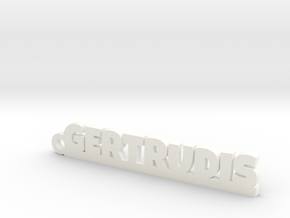 GERTRUDIS_keychain_Lucky in White Processed Versatile Plastic