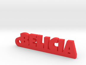 BELICIA_keychain_Lucky in Red Processed Versatile Plastic