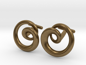 Cydonia Cufflinks pair in Natural Bronze