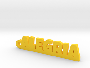 ALEGRIA_keychain_Lucky in Yellow Strong & Flexible Polished