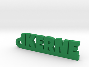 IKERNE_keychain_Lucky in Polished and Bronzed Black Steel