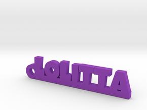 LOLITTA_keychain_Lucky in Purple Processed Versatile Plastic
