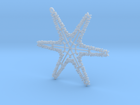 Benjamin snowflake ornament in Smooth Fine Detail Plastic