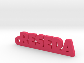 RESEDA_keychain_Lucky in 18k Gold Plated Brass