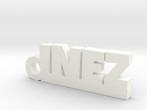INEZ_keychain_Lucky in Matte Black Steel