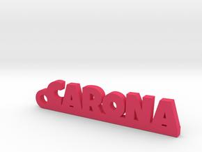 CARONA_keychain_Lucky in 18k Gold Plated Brass