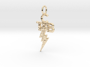 Elvis TCB Pendant in 14k Gold Plated Brass