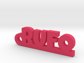 RUFO_keychain_Lucky in Pink Processed Versatile Plastic