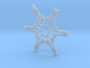 James snowflake ornament in Smooth Fine Detail Plastic