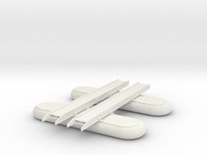 1/87 Scale M2 Pontoon Bridge Section in White Natural Versatile Plastic