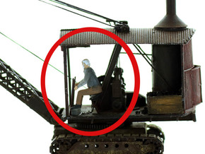 Equipment Operator, Seated S Scale in Smooth Fine Detail Plastic