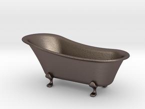 bathtub 1-24  in Polished Bronzed Silver Steel