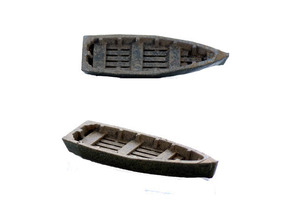 Wooden RowBoat N Scale in Smooth Fine Detail Plastic