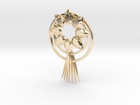 Sun goddess pendant(amaterasu) in 14K Yellow Gold