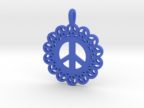 24- PEACE CIRCLES in Blue Processed Versatile Plastic: Small
