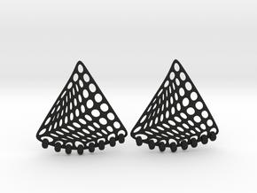 Baumann Swing Earrings in Black Premium Strong & Flexible: Small