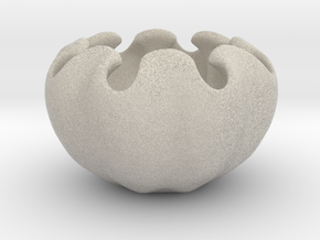 Fractal Flower Pot V in Natural Sandstone