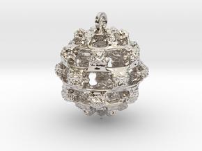 Integer Fractal Pendant in Rhodium Plated Brass