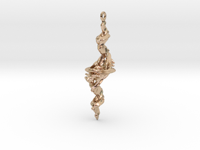 Tricorn Fractal Pendant in 14k Rose Gold Plated Brass