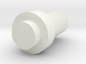 Retroberry VOL button in White Natural Versatile Plastic