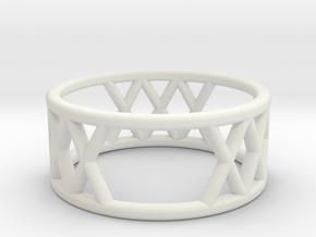XXX Ring Size-5 in White Natural Versatile Plastic