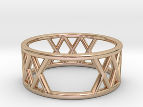 XXX Ring Size-6 in 14k Rose Gold