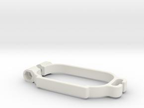Schumacher Cat Lipo Clamp in White Natural Versatile Plastic