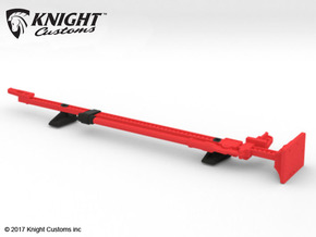 AJ10050 Jack and Hood Mount - RED in Red Processed Versatile Plastic