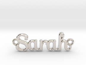 Personalised Name Pendant in Rhodium Plated Brass