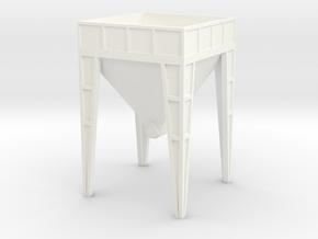 HO Aggregate Hopper in White Processed Versatile Plastic