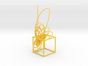 Cassini Prime - cube in Yellow Processed Versatile Plastic