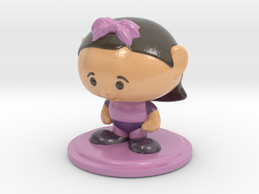 Collectame - Female Purple in Glossy Full Color Sandstone