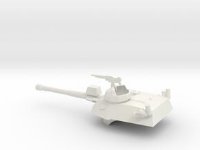 036G EE-9 Cascavel Turret 1/56 in White Natural Versatile Plastic