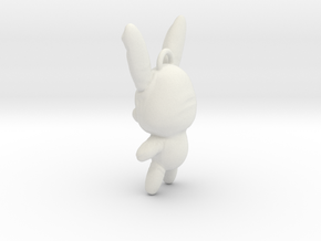 Sucker Punch Babydoll Gun Charms: Battle Bunny in White Strong & Flexible
