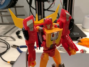 G1 Spoiler for Titans Return Hot Rod in Yellow Strong & Flexible Polished