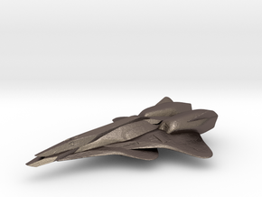 Interplanetary Interceptor in Polished Bronzed Silver Steel