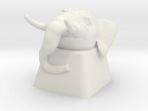 Elephant Cherry MX Keycap in White Natural Versatile Plastic