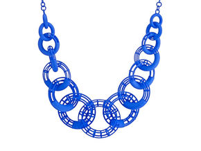 50cm Solid - Structure Torus Necklace in Blue Processed Versatile Plastic