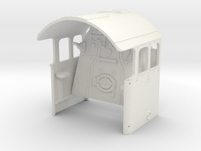 A0 - A1 Cab & Backhead Controls LHD in White Natural Versatile Plastic