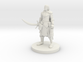 Half Elf Male Ranger with Moonblade in White Natural Versatile Plastic