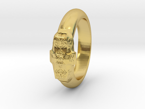 Love Ring in Polished Brass: 5 / 49
