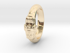 Love Ring in 14k Gold Plated Brass: 5 / 49
