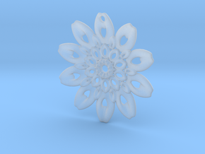 Fractal Flower Pendant III in Smooth Fine Detail Plastic