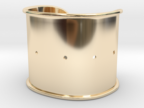 """Cuff Band Only - Bent (for wrists 2""""W x 1.5""""H) in 14k Gold Plated Brass"""