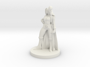 Female Fire Sorcerer in White Premium Versatile Plastic